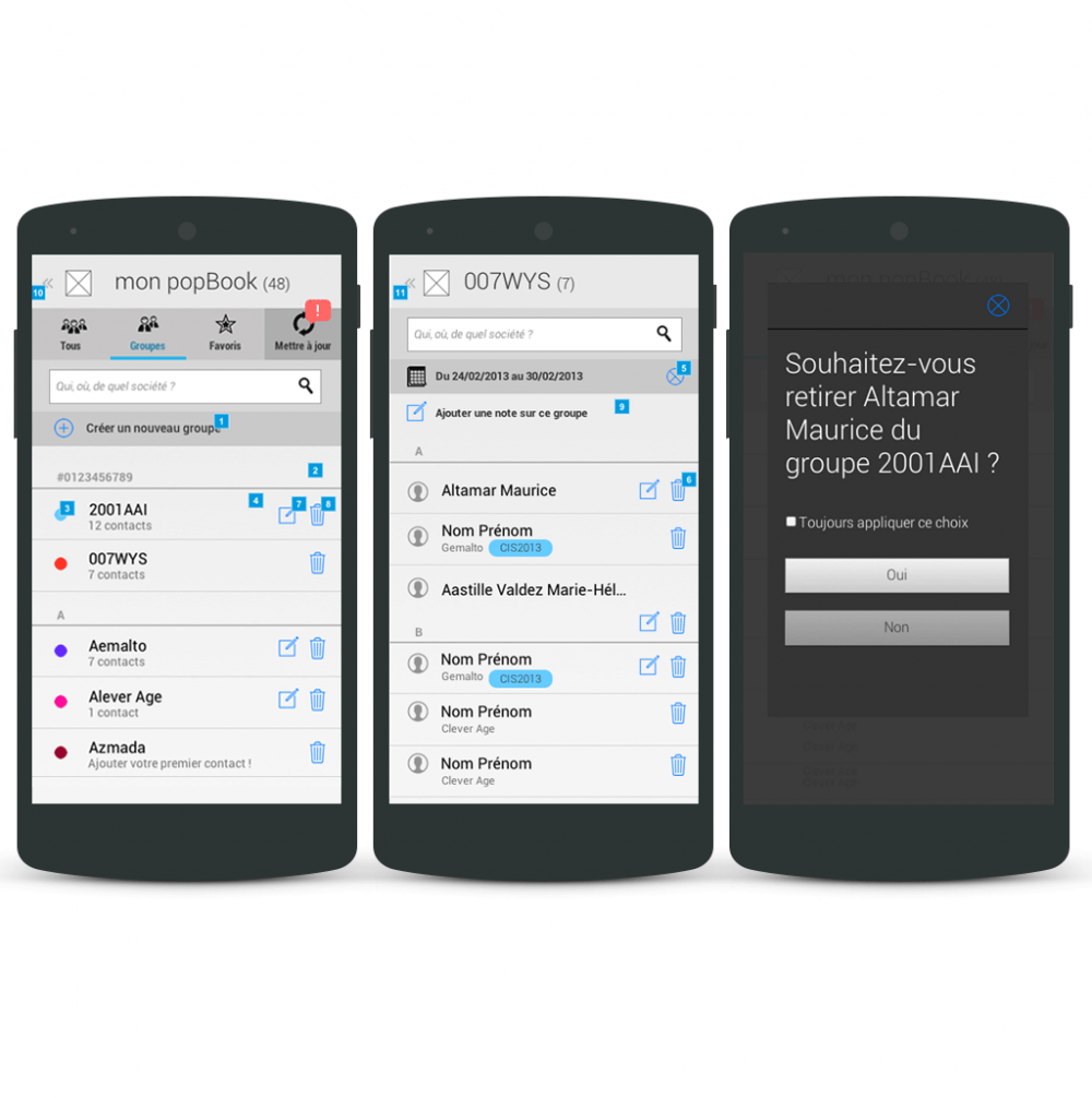 Group list - popwing app