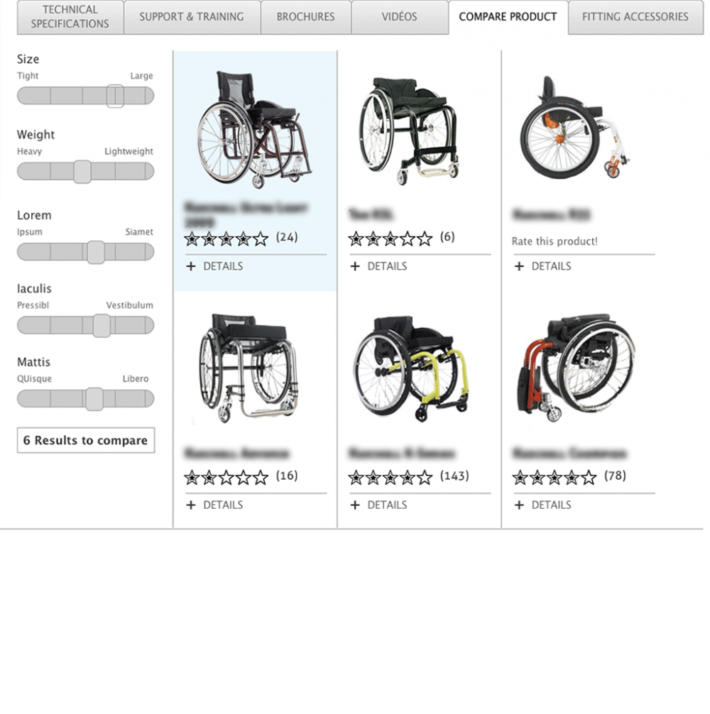 Product comparison feature