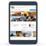 Home page on tablet (Responsive Web Design)