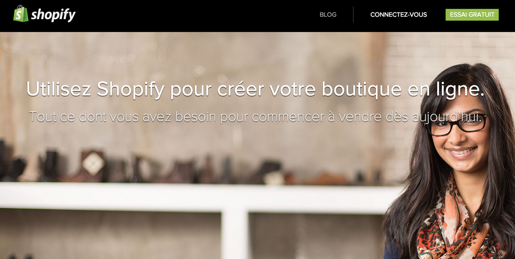 Shopify french marketing website