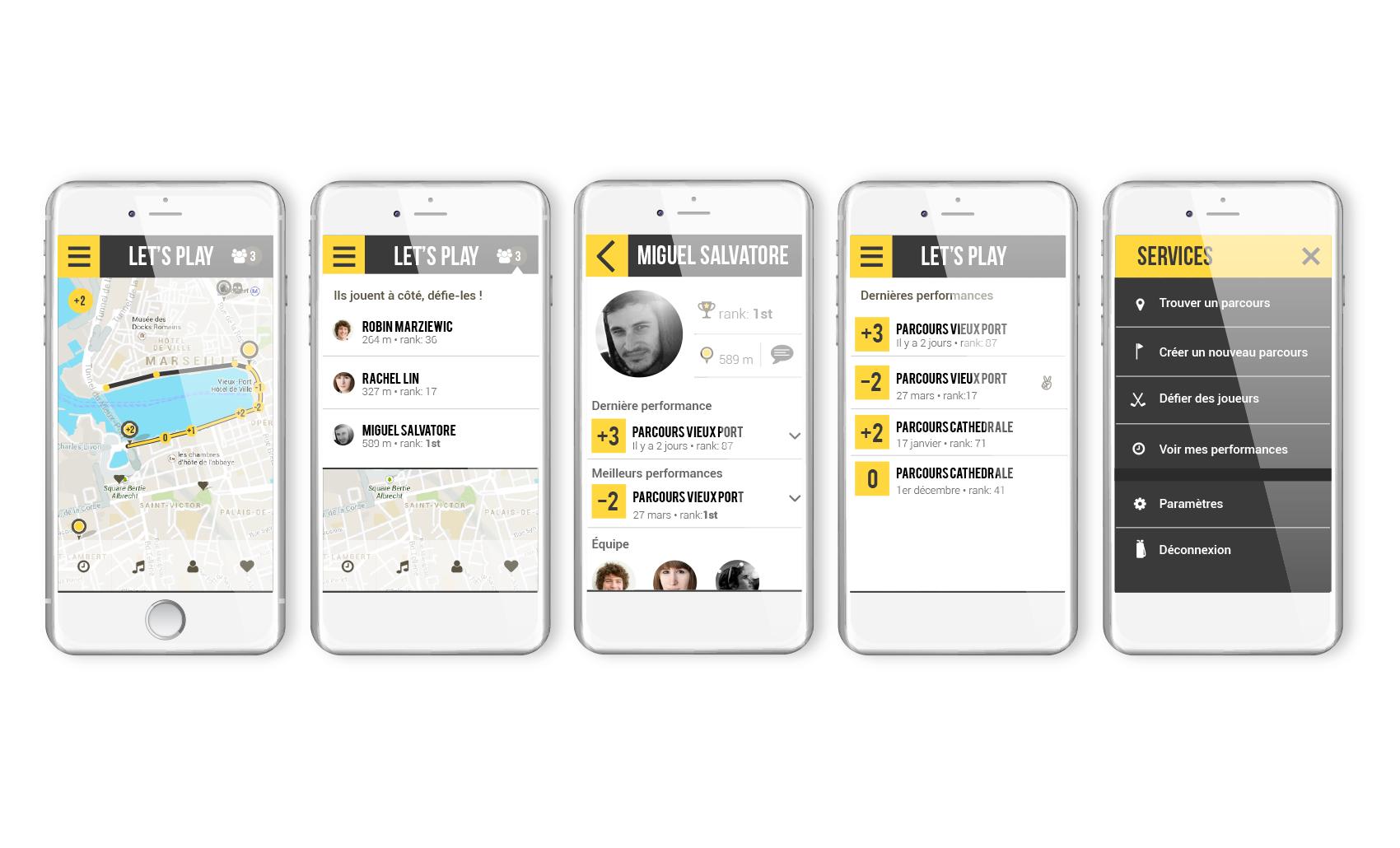 Street Golf mobile app'