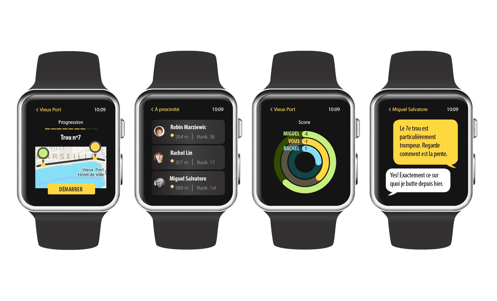 Street Golf watch app'