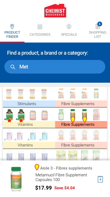 Indoor location mobile app - Product Finder - Shelf View
