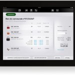 B2B tablet application concept to help seller - home screen - cart funnel