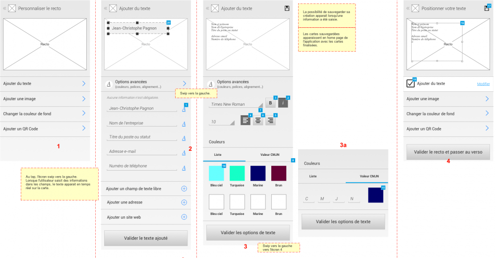 Customization process - powping app