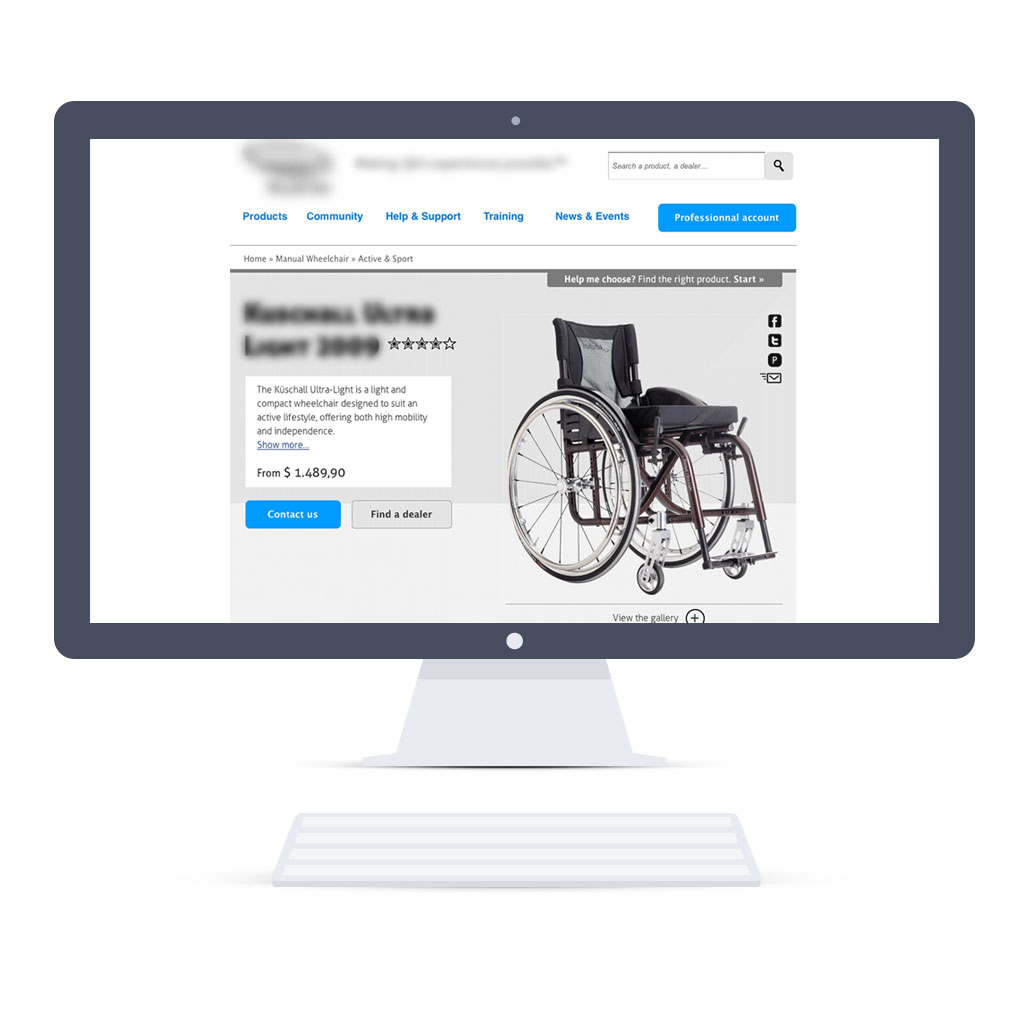 Home page on desktop (Responsive Web Design) - top page part