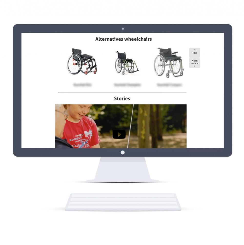 Home page on desktop (Responsive Web Design) - cross selling part
