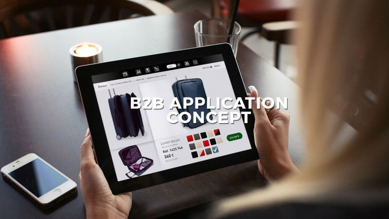 B2B application concept