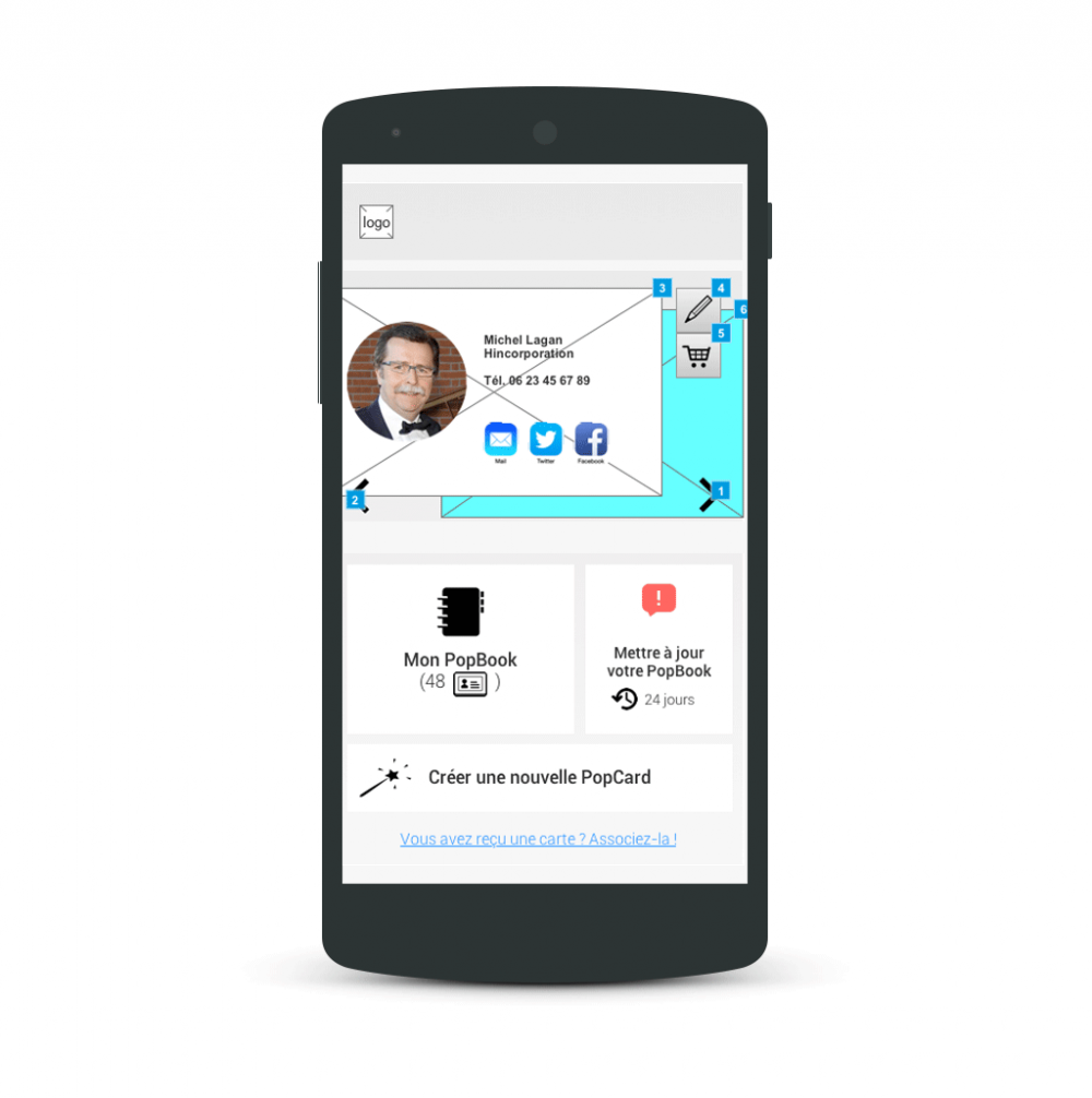 Home screen - popwing app