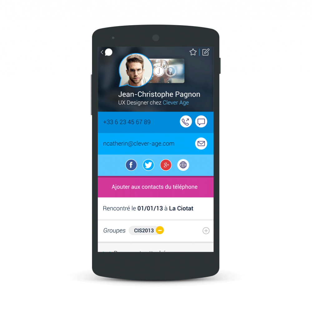 Contact information - popwing app