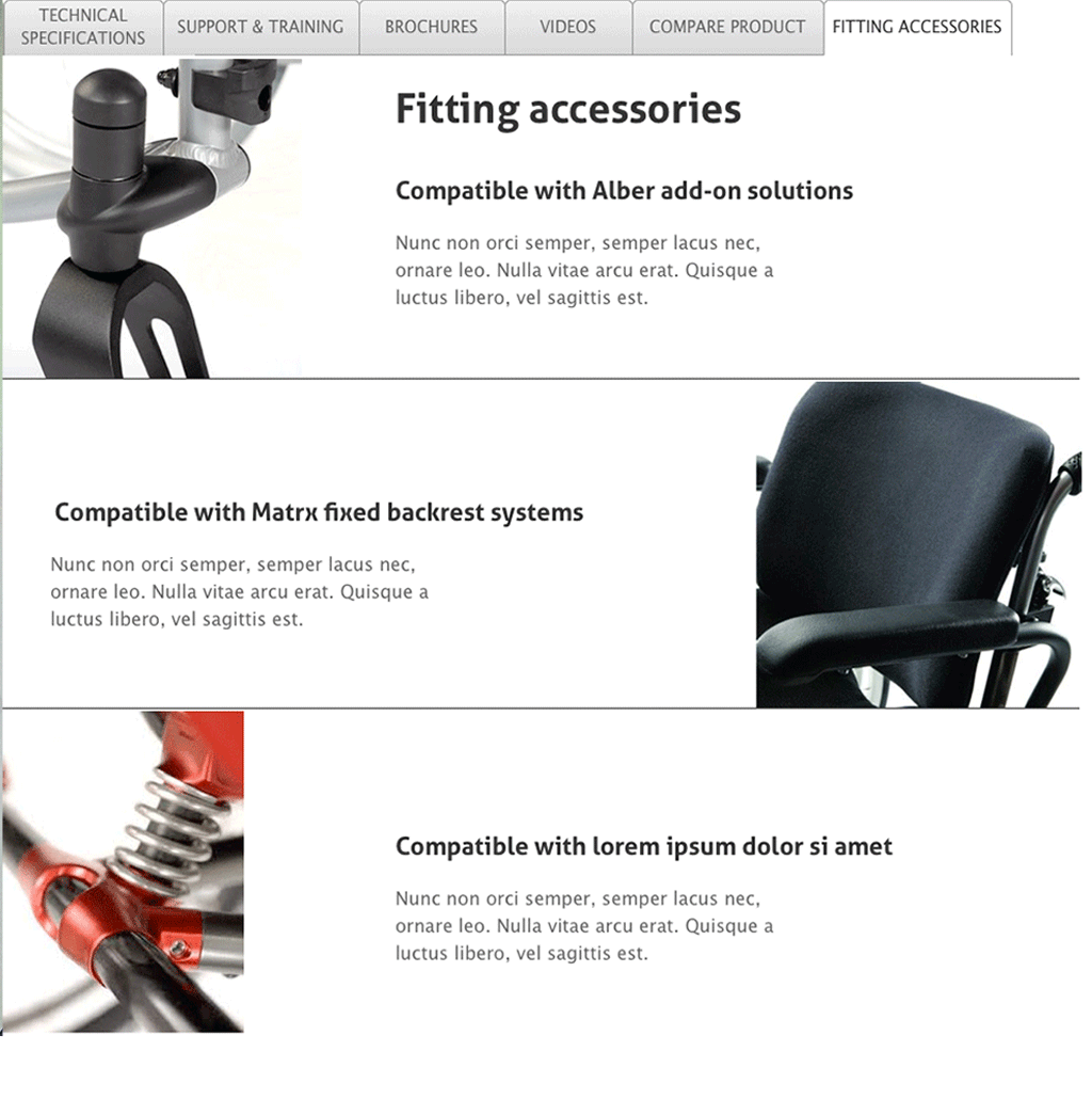 Product details - fitting accessories
