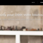 Shopify french marketing website