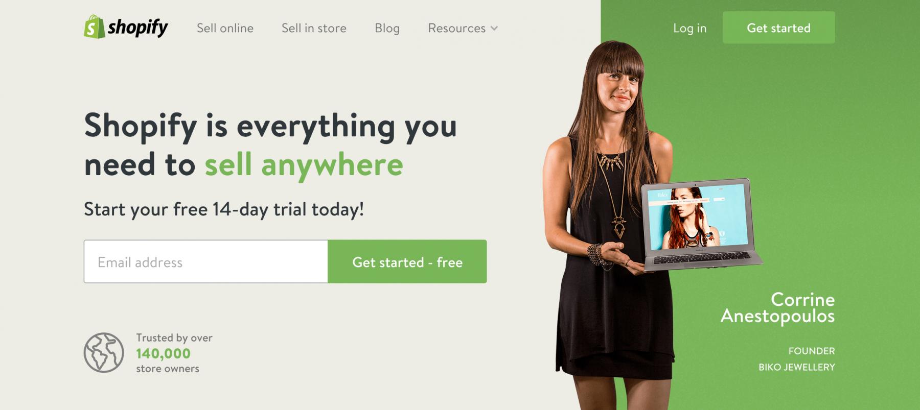 Shopify us e-store marketing website