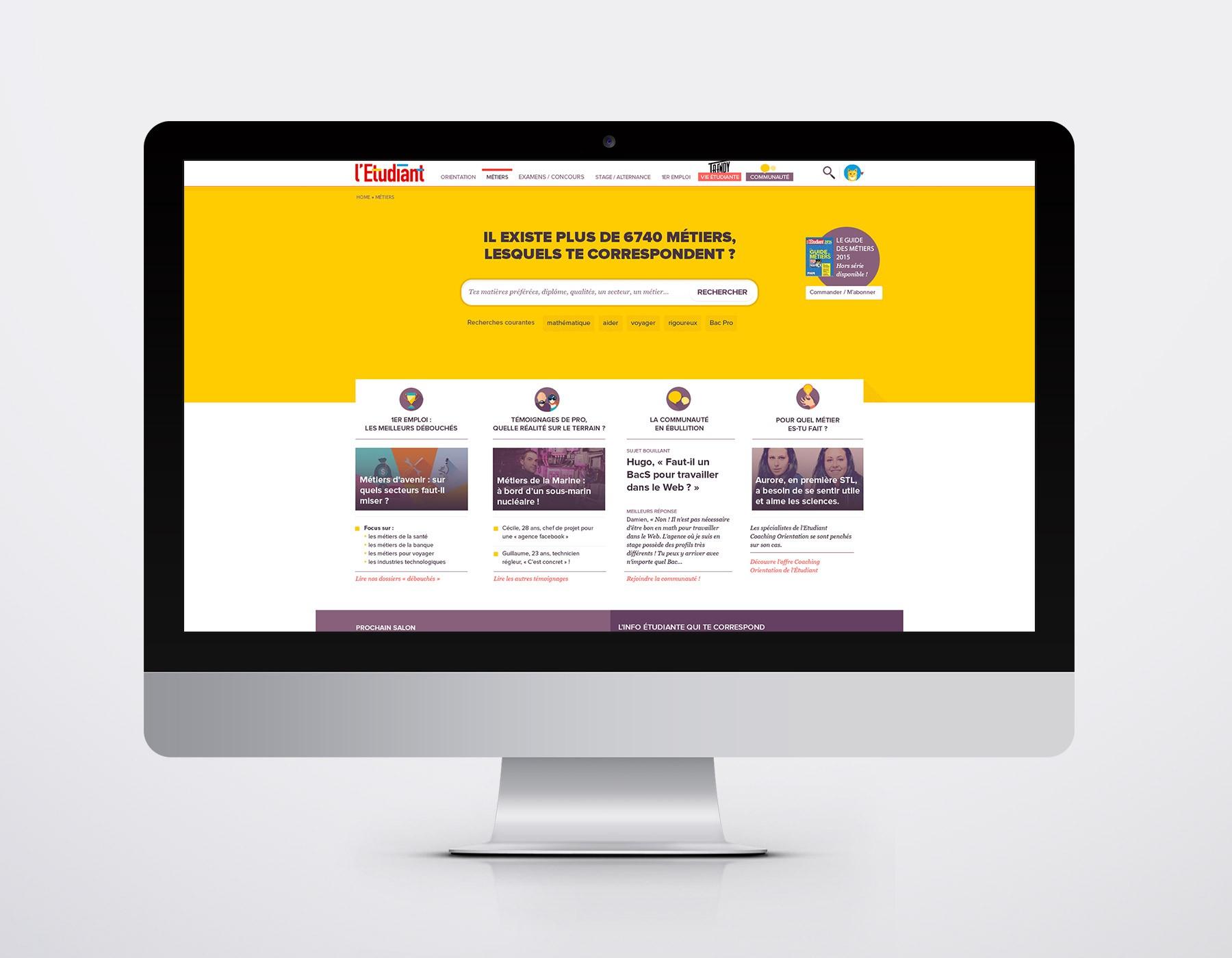 L'Étudiant.fr - service revamping