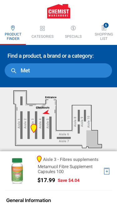 Indoor location mobile app - Product Finder - Product Details